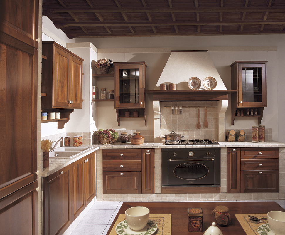 Cucine in muratura brescia cucine classiche for Maggiordomi piani di dispensa piani
