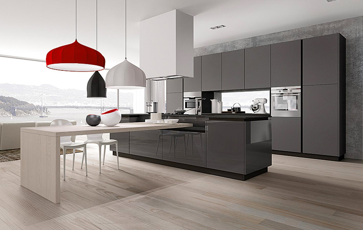 Awesome Cucina Moderna Con Isola Photos - Modern Home Design ...
